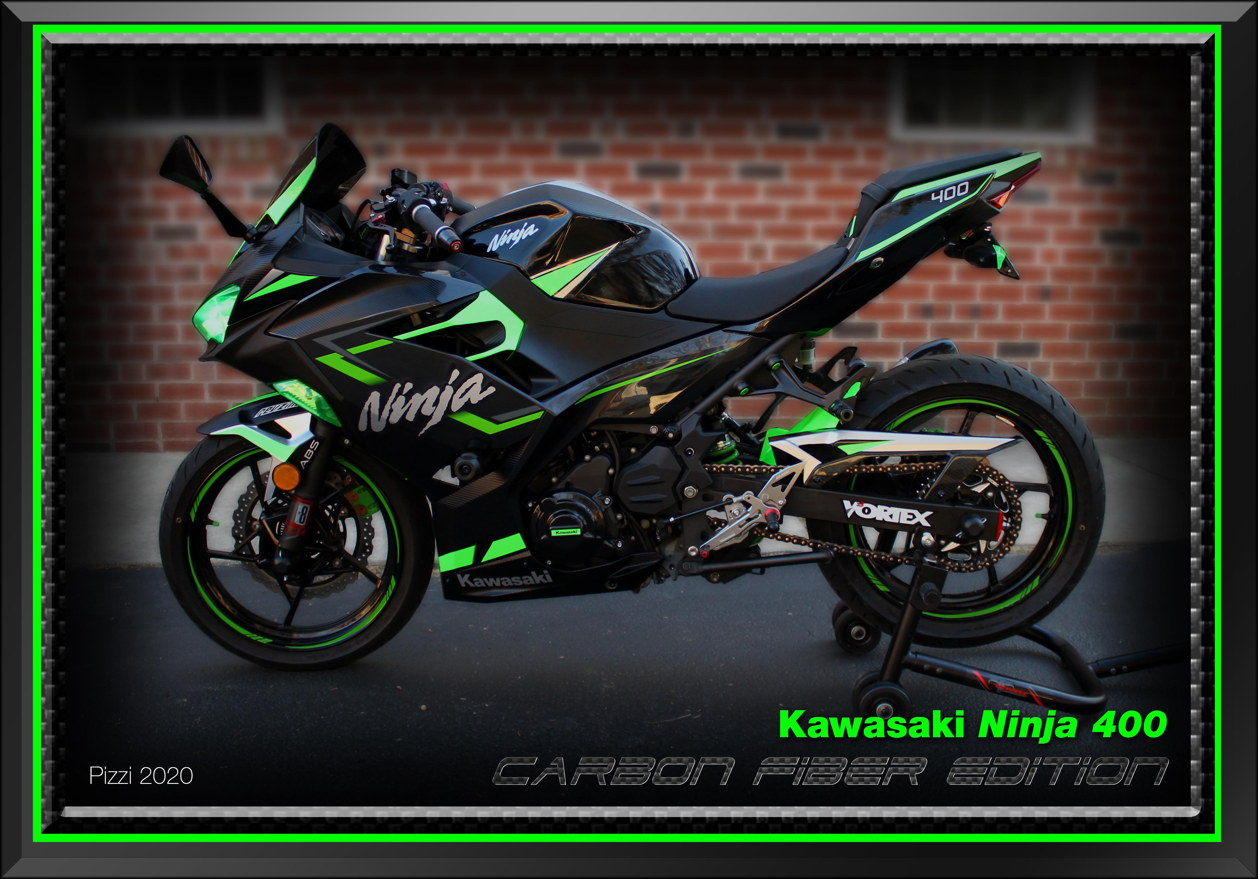 My Vinyl Wrapped Ninja 400 Ninja 400 Riders Forum