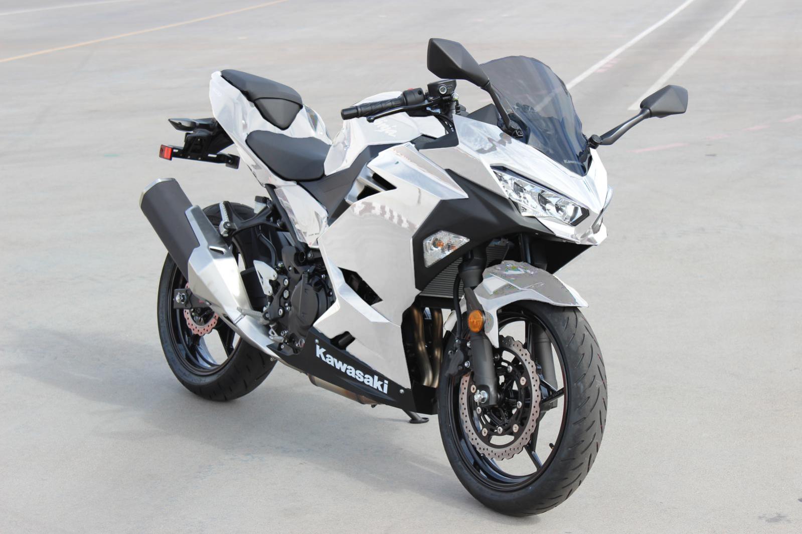 White Ninja 400 Mockup Ninja 400 Riders Forum
